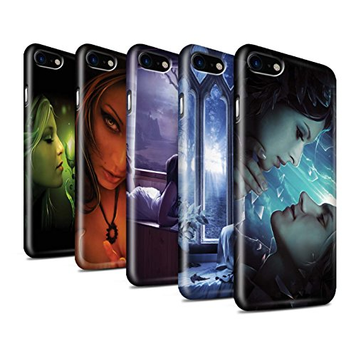 Offiziell Elena Dudina Hülle / Glanz Snap-On Case für Apple iPhone 8 / Pack 7pcs Muster / Liebe Kunst Kollektion Pack 7pcs