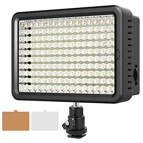Video Licht, ESDDI 160 LED Ultrahoch Dimmbare Fotografie Kamera, 3200K bis 5600K Farbwechsel, Videoleuchte Panel für Canon, Nikon, Pentax, Panasonic, Sony und andere Digitale SLR-Kameras/Camcorder (Digitale Slr-kamera, 3200)
