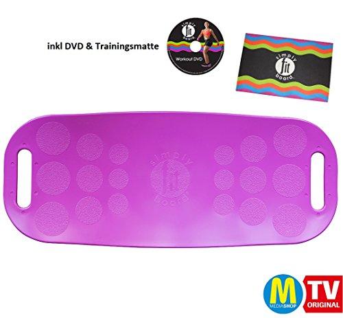Simply Fit Board Magenta Fitnessgerät inkl DVD und Trainingsmatte Balance Board Workout Twist das Original von Mediashop