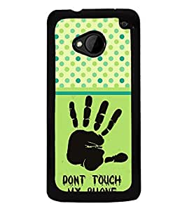 ifasho Designer Phone Back Case Cover HTC M7 :: HTC One M7 ( Pink Black Gift Type Girl Look Case )