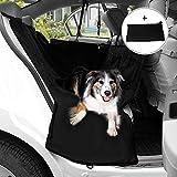 Migimi Cubierta de Asiento de la Hamaca Impermeable, Asiento Cat piezas nuevo perro de mascota cubierta de seguridad Cama impermeable para su coche (Negro)