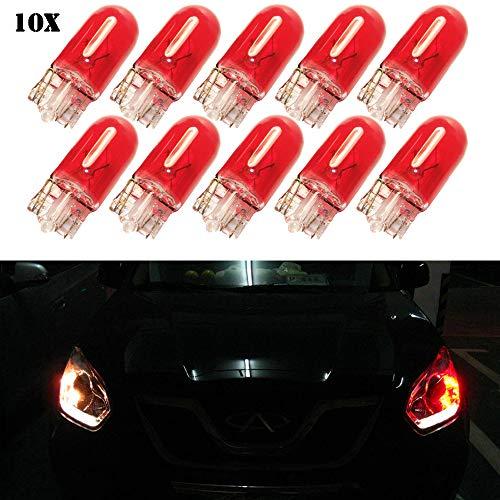 Ampoules halogènes T10 W5W - T10 - Ampoule halogène W5W 194 168 501 - Ampoule halogène cale DC 12 V 5 W - Pour feux de stationnement de voiture - Lampe latérale pour tableau de bord