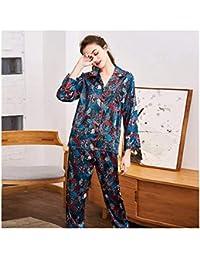HAOLIEQUAN Las Mujeres De Homewear De La Moda Fijaron Las Señoras De Pajama  Tops De Seda 708684a96cd
