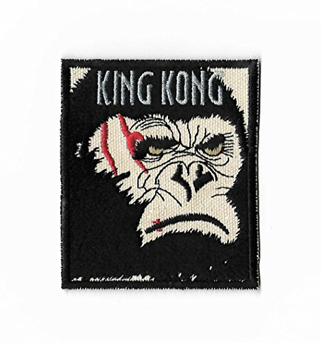 King Kong Patch (8,9cm) bestickt Eisen/Nähen auf Badge DIY Aufnäher Film Souvenir Film Kostüm Gorilla Monster