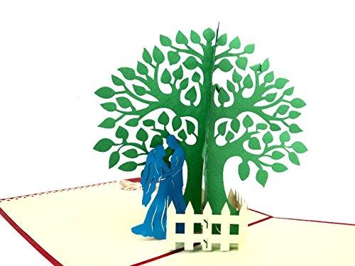 den Baum 3D Pop up Grußkarte handgefertigt Happy Birthday Hochzeitstag Freundschaft Frohe Weihnachten Thanksgiving Thank You Best Wish Viel Glück Happy New Year Valentine 's Day ()
