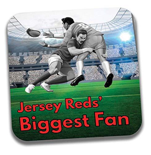 Jersey Reds Big Fan Rugby Untersetzer - Geburtstagsgeschenk/Strumpffüller