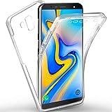 AROYI Samsung Galaxy J6 Plus Hülle 360 Grad Handyhülle, Silikon Crystal Full Schutz Cover [2in1 Separat Hart PC Zurück + Weich TPU Vorderseite] Vorne und Hinten Schutzhülle für Samsung J6 Plus /J6+