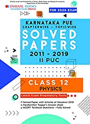 Oswaal Karnataka PUE Solved Papers II PUC Physics Book Chapterwise & Topicwise (For March 2020 E