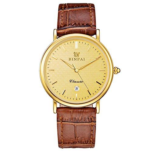 In pelle cinturino orologio al quarzo/Studente impermeabile sport orologio/ luminoso moda maschile orologio-B