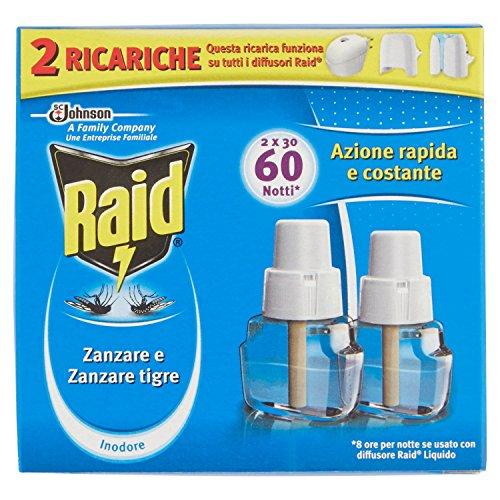 Raid Liquido Ricarica 60 Notti - 2 Ricariche da 21 ml [42 ml]