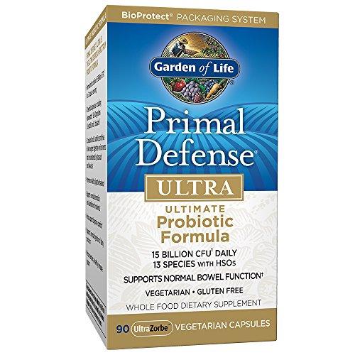 Garden of Life | Primal Defense Ultra | Ultimate Probiotic Formula | 90 Veg. Kapseln | 15 Milliarden lebende Zellen