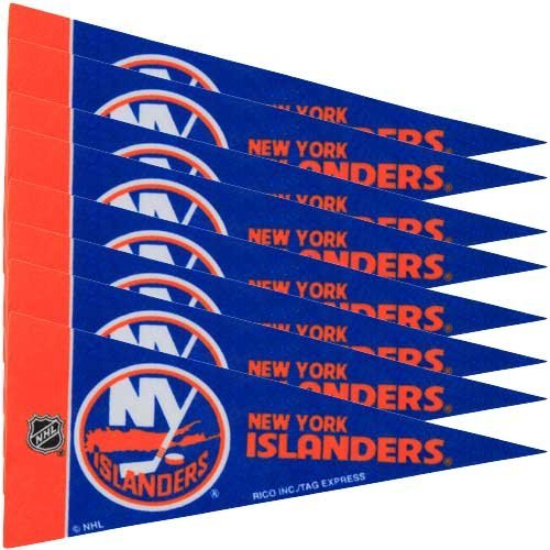 NHL New York Islanders 4'' x 9'' Mini Pennant Set - Royal Blue by Rico -