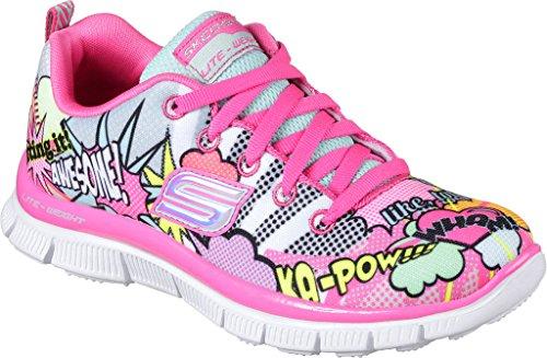 Skechers Mädchen Skech Appeal-Pop Pizazz Ausbilder Pink (Neon Pink/multi)