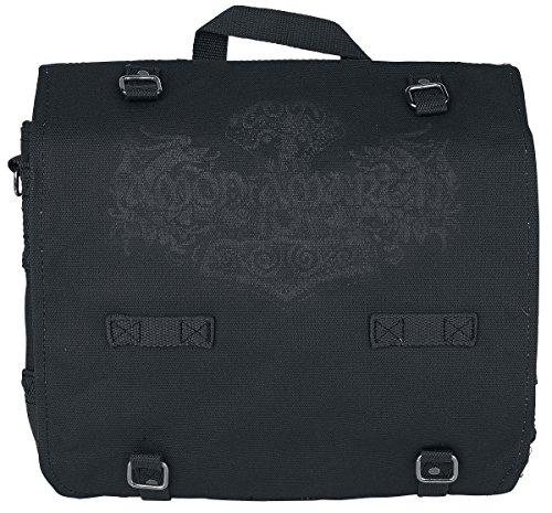 Amon Amarth Logo Borsa a tracolla nero nero