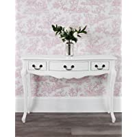 Juliette Shabby Chic Antique White Dressing Table Only