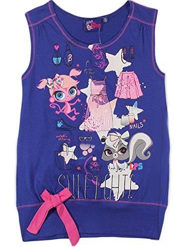 Mädchen Littlest Pet Shop T-Shirt / Top (Lila,92/98, 2/3 Jahre)