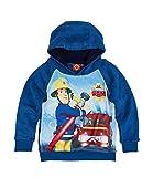 Feuerwehrmann Sam Jungen Sweatshirt mit Kapuze aus Teddy Vlies - blau - 128
