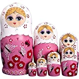 RAILONCH 7 Stücken Matroschka Handgemacht Das Lindenholz Geschenk Spielzeug Dolls Marionette Geschenk Souvenirs