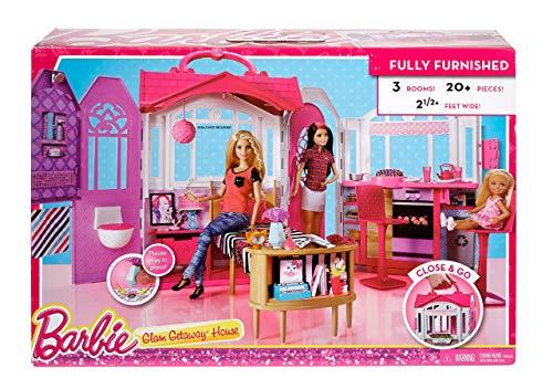 Barbie- Casa Vacanze Glam, Richiudibile, con Cucina, Camera da Letto ...