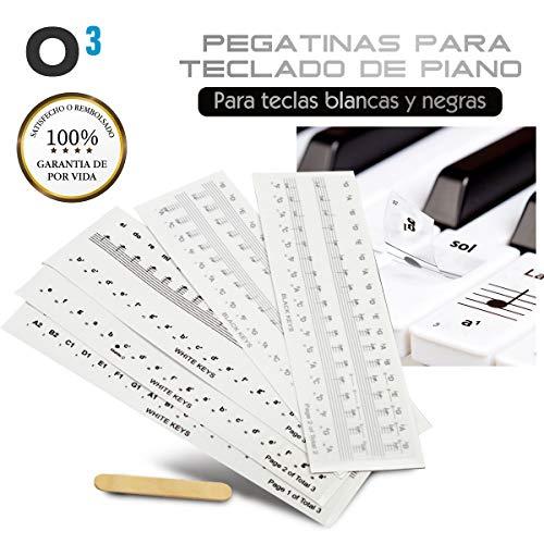 O³ Pegatinas Teclado Piano Para Piano 36/54/61/76/88