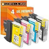 Gorilla-Ink® 4x Druckerpatronen XXL kompatibel für Brother LC980 MFC-250 C MFC-290 C MFC-295 CN MFC-290 Series MFC-297 C
