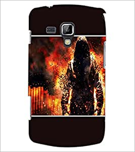PrintDhaba Fire Man D-1355 Back Case Cover for SAMSUNG GALAXY S DUOS 2 S7582 (Multi-Coloured)