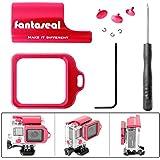 Fantaseal® 5-en-1 Aluminio kit de Herramientas para Caso de Gopro Accesorios de Reemplazo para Gopro con Bloqueo Clip, Botones, Anillo del Lente de Gopro Hero 4 / 3+, Rojo
