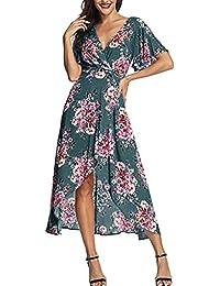 Amazon.it  vestito verde - A tulipano   Vestiti   Donna  Abbigliamento 3fef70cdf9e