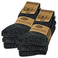 6 paar noorse sokken met wol in zwart grijs of antraciet wintersokken herensokken - sockenkauf24 (43-46, 6 paar | Antraciet)