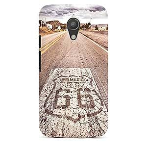 DeinDesign Motorola Moto G2 Hülle Premium Case Cover Usa Biker Strasse