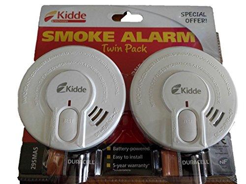 Kidde 29-fr-Rilevatore di fumo ottico sensore Twin Pack-One for One & per piani Downstairs-Batterie incluse-sostituire di data-03-2028