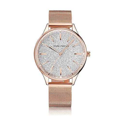 b9df886599a0 Reloj de Mujer Cronógrafo de Cuarzo Moda Pulsera Informal Novia Regalo de  cumpleaños 30 Metros Impermeable