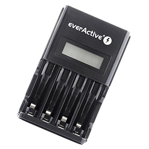 EverActive NC-450Black Edition Intelligentes Schnelladegerät Ladegerät für AA AAA NI-MH Akkus