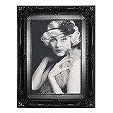 WOLTU 9456 Bilderrahmen Foto Galerie Bild Rahmen Bilder Collage Barock 6 Farben in 5 Größen (Schwarz, 10X15)