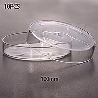 puck230 - 10 Platos de poliestireno para petrión, Desechables, estéril Transparente, para Laboratorio, Instrumento químico 35 mm/55 mm/60 mm/70 mm/100 mm/150 mm para Elegir, 100mm, 100 mm