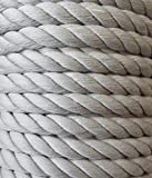 Großhandel für Schneiderbedarf 3 m Baumwollkordel 10 mm hell grau