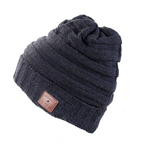 Strickmütze Mütze, Winter Mütze Beanie, Wärmer Häkelarbeithut Angenehm Weich Beanie Ski Hüte Mützen Unisex - By Lisbest™ (JR-Dunkelgrau002)