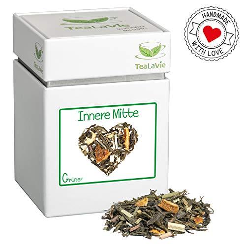 TEALAVIE - Grüner Tee lose | Innere Mitte - feiner Ingwer mit frischer Zitronennote | 100g Dose loser Grüntee