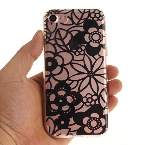 WYSTORE pour iPhone 7 Vogue Gel Housse étui de téléphone mobile ,TPU Silicone Matériau Transparente Ultra Mince Supérieur Semi Transparent Doux Coque pour iPhone 7 - A02 A09