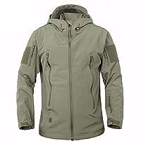 BELLOO Men Combat Jacket Waterproof Softshell Fleece Jacket With Hood