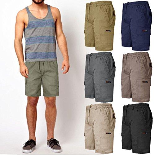 MENS-PLAIN-SHORTS-CARGO-COMBAT-CASUAL-SUMMER-BEACH-COTTON-7-POCKETS-PANTS-M-XXXL