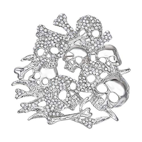 terreichischen Kristall Vintage inspiriert Halloween Schädel Knochen Brosche ()