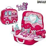 Bakaji Valigetta Estetista Centro Bellezza Fashion Per Bambine Giocattolo Con 17 Accessori Gioco Portatile Richiudibile