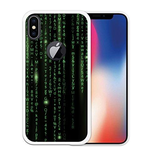 iPhone X Hülle, WoowCase Handyhülle Silikon für [ iPhone X ] Militärischer Stern Handytasche Handy Cover Case Schutzhülle Flexible TPU - Schwarz Housse Gel iPhone X Transparent D0562