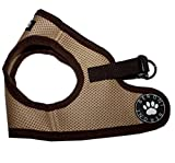 Beroni Brustgeschirr Hundegeschirr Dog Harness Step In Geschirr Jacket beige-braun Größe XSS-L (L)