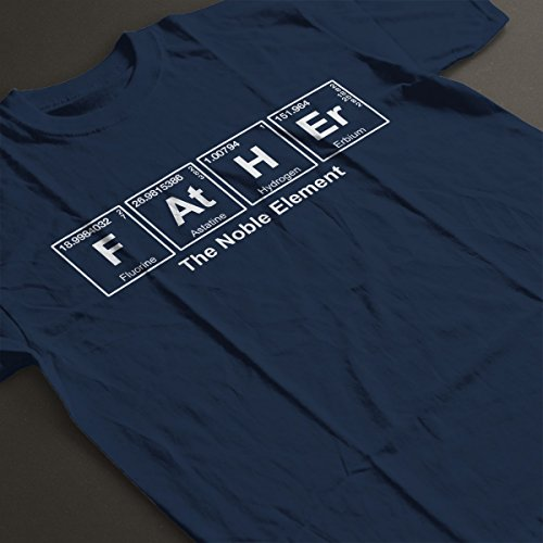 Father The Noble Element Chemical Symbols Men's T-Shirt Navy Blue