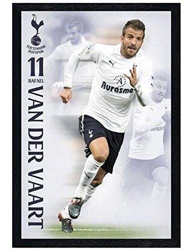 Tottenham in schwarzes Holz eingerahmtes Rafael Van der Vaart Poster 61x91,5cm (Rafael Van)