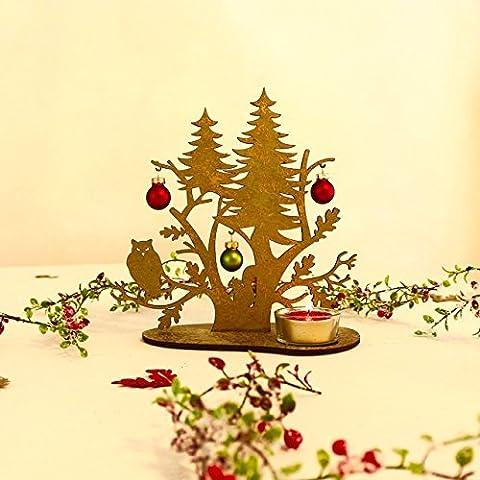 Tischlicht   Weihnachtsdeko   Tisch Dekoration   Eule   20