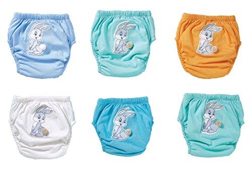 HASE 6er Pack Trainerhosen in versch. Gr. | waschbare Trainingswindel | Lernwindel | Toilettentrainerhose | Baby Training Pants | Kinder Unterwäsche Unterhosen | Windelhose | Töpfchenhose (Set 1, 80)