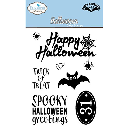 Elizabeth Craft Designs Halloween Clear Stamps, Synthetisches Material, 12,6 x 7,8 x 0,4 cm -